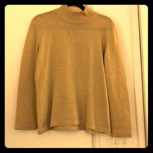 Escada sparkly gold turtleneck sweater